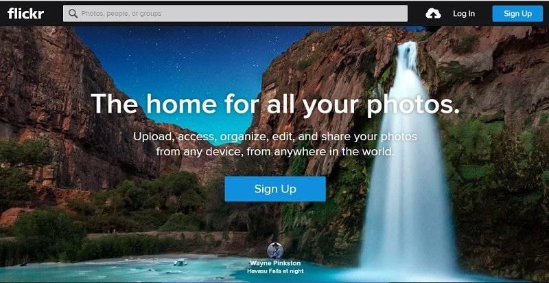 Как создать свой сайт с фото - Flikr