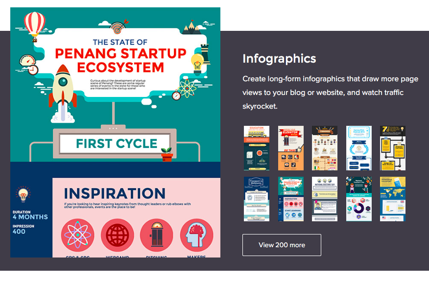 Инфографика для продвижения сайта