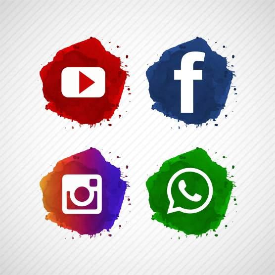led sign social network - HD1600×1600