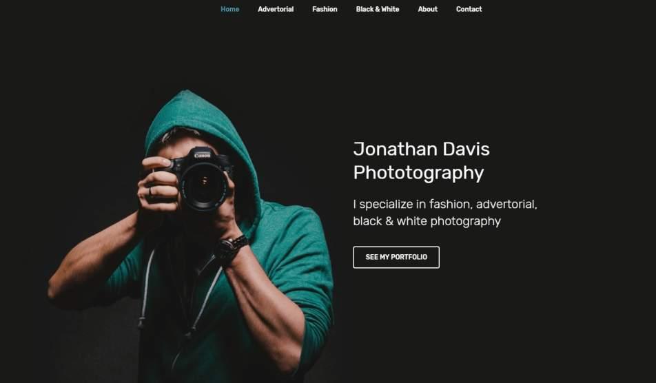 Как сделать сайт фотографа