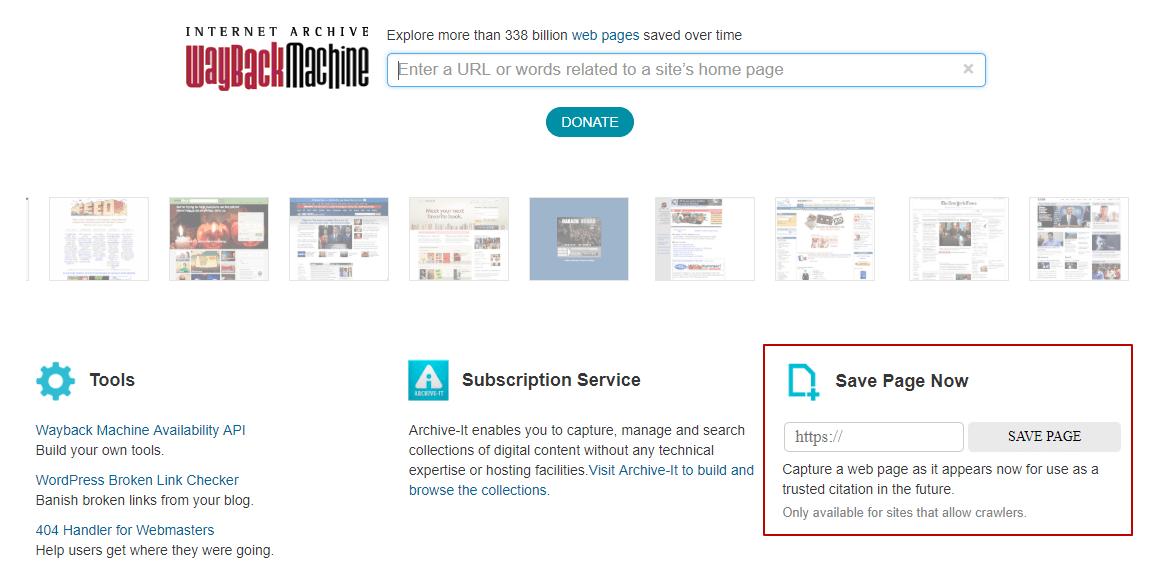 Сохранение сайта в WebArchive