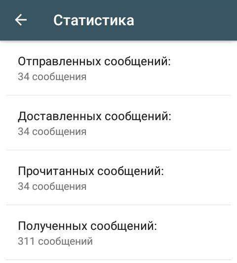 Статистика в WhatsApp для бизнеса